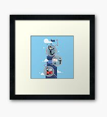 Career Growth - Successful Businessman  Framed Print