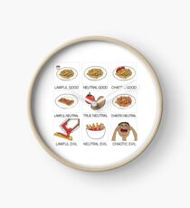 ketchup and fries alignment system Clock