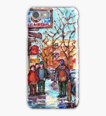 RUE ST VIATEUR MONTREAL WINTER SCENE iPhone Case/Skin