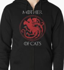 Mother of Cats Zipped Hoodie
