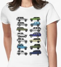 4x4 offroad Trucks Collection  Women's Fitted T-Shirt