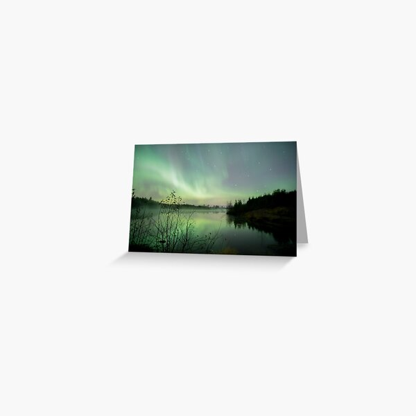 Misty aurora by Ken Komatsu Greeting Card