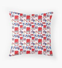 Red, White and Soup Throw Pillow