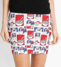 Red, White and Soup Mini Skirt