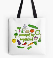 Powered by vegetables Tote Bag