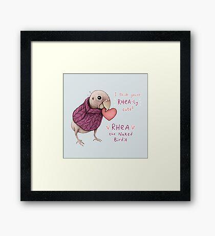 Rhea - Rhea-ly Cute! Framed Print