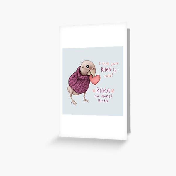 Rhea - Rhea-ly Cute! Greeting Card