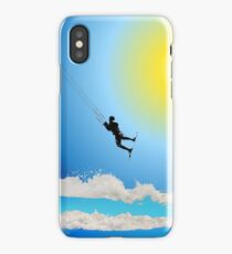 Blue wave kiting iPhone Case/Skin