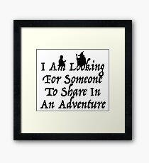 A Most Interesting Adventure Framed Print