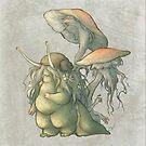 Snail and Mushroom Changelings by savicorn
