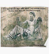 Marcus Aurelius- Power over your mind Poster