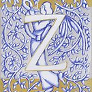 Angel Letter Z Silver 2017 by Donna Huntriss