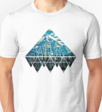 Geometric Mountain Views Unisex T-Shirt