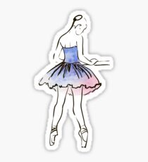 ballerina figure, watercolor illustration Sticker