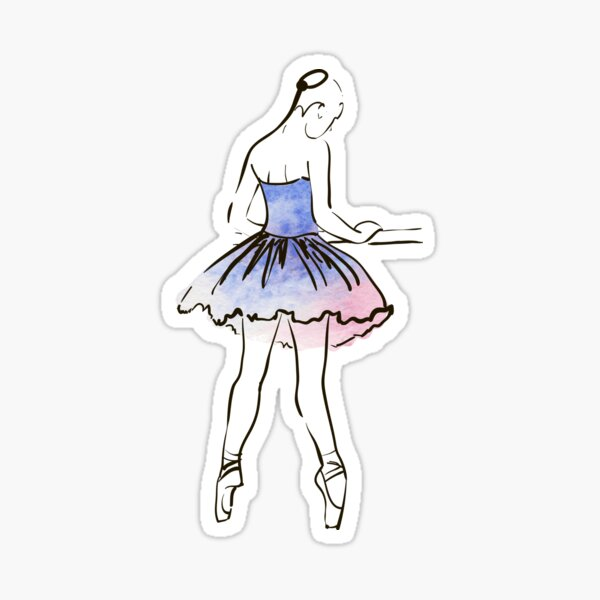 illustration aquarelle Sticker