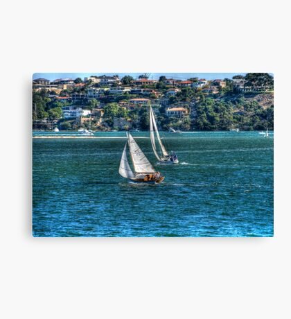 Yachts on the Swan Canvas Print