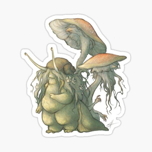 Snail and Mushroom Changelings Sticker