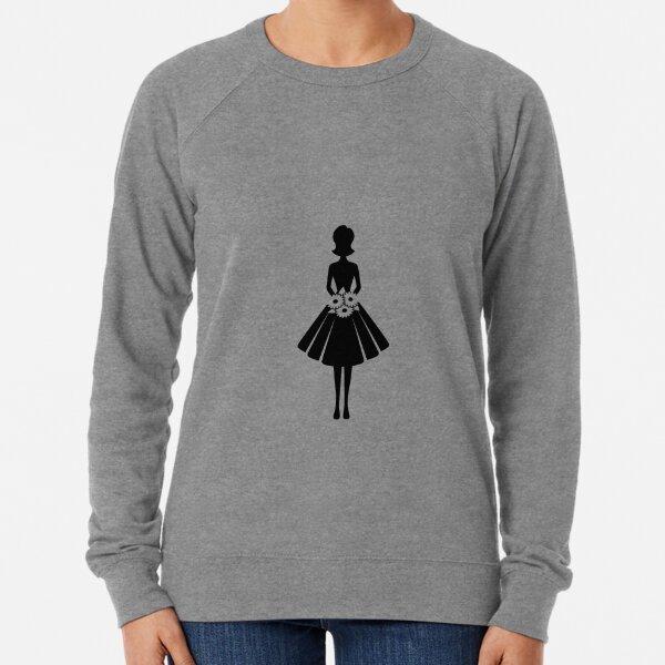 A woman with flowers Lightweight Sweatshirt