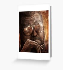Walter- Jesus Reflection-Lebowski Greeting Card