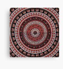 Elephant Tapestry Design Canvas Print