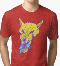 Electric Neon Wolf Tri-blend T-Shirt