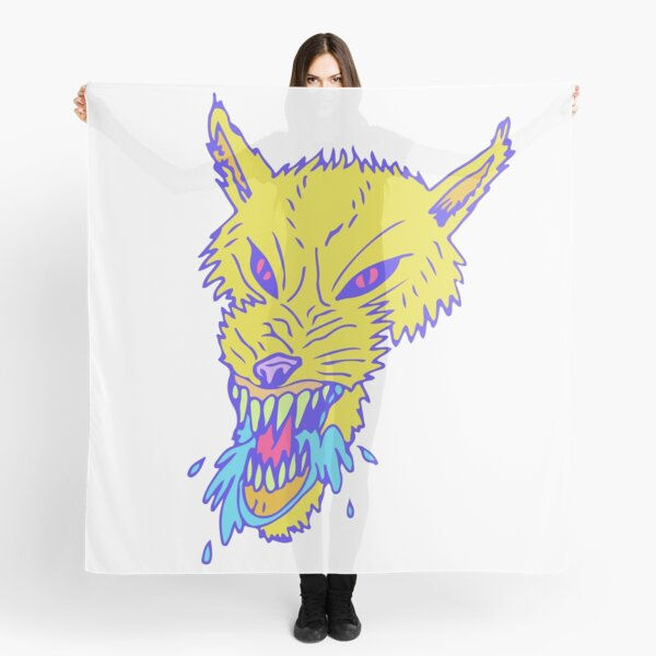Electric Neon Wolf Scarf