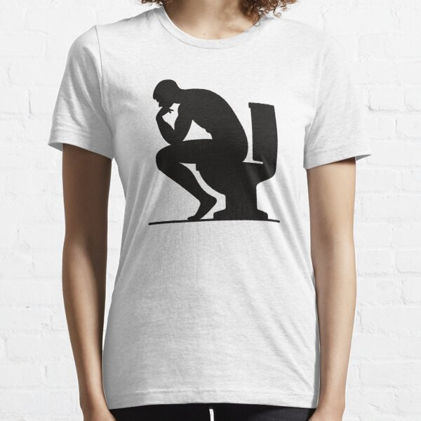 A man sitting on the toilet Essential T-Shirt