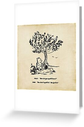 Winnie the pooh how do you spell love greeting cards by winnie the pooh how do you spell love by southernsassart m4hsunfo