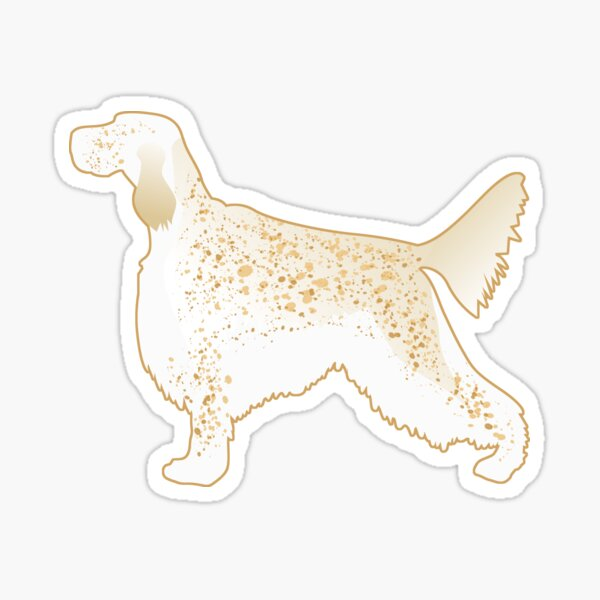 English Setter Dog Breed Silhouette Sticker