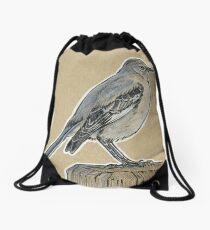 State Bird Series:  Florida - Northern Mockingbird Drawstring Bag