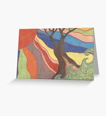 Sunlight on the Tree Greeting Card