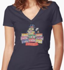 Hostess Fruit Pies (clean for dark shirts) Women's Fitted V-Neck T-Shirt