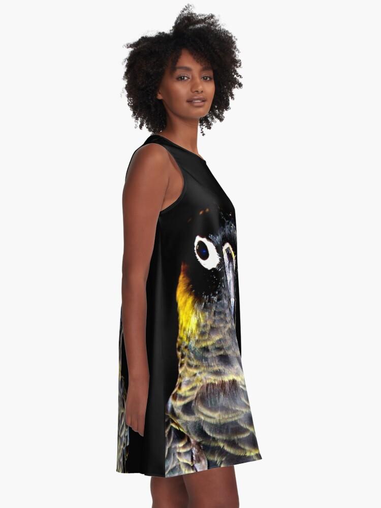 Alternate view of Black Cockatoo  A-Line Dress