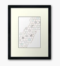 Abstract Water Turtle Squad Framed Print
