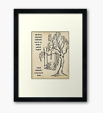 Winnie the Pooh - Friends Forever Framed Print