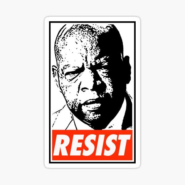 John Lewis Resist Sticker