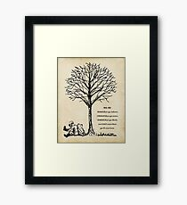 winnie the pooh - you are braver Framed Print