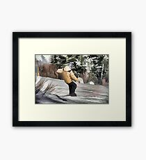 Hittin' It  - Snowboarding Jump Framed Print