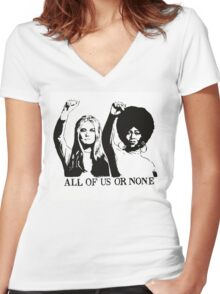 ALL OF US OR NONE Women's Fitted V-Neck T-Shirt