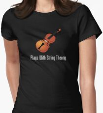 Plays With String Theory - Violin Version Womens Fitted T-Shirt