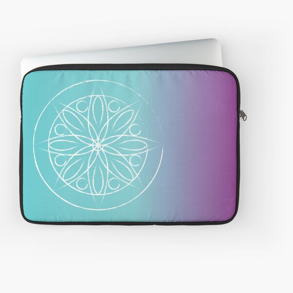 Mandala on aqua Laptop Sleeve