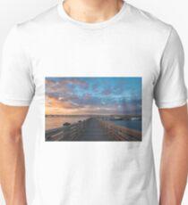 Harbor Walk Sunset  Unisex T-Shirt