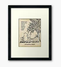 winnie the pooh - keep me in your heart Framed Print