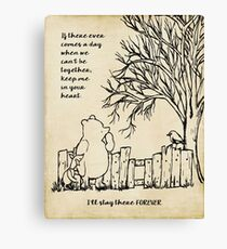winnie the pooh - keep me in your heart Canvas Print