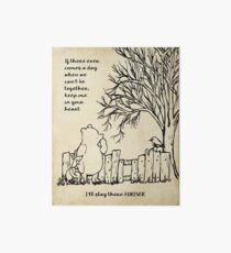 winnie the pooh - keep me in your heart Art Board