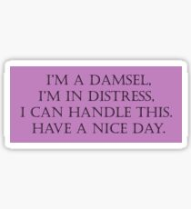 Damsel in Distress Sticker