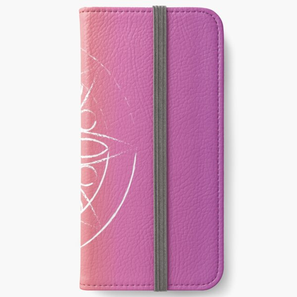 Mandala on orange and pink iPhone Wallet