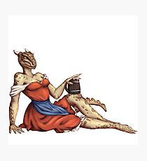 Lusty Argonian Maid Pinup 6 Photographic Print