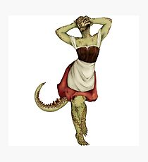 Lusty Argonian Maid Pinup 7 Photographic Print