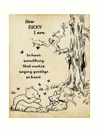Winnie The Pooh How Lucky I Am Art Prints By Southernsassart